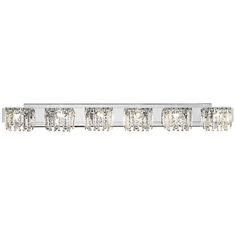 "Possini Euro Design Hanging Crystal 50 3/4"" Wide Bath Light"