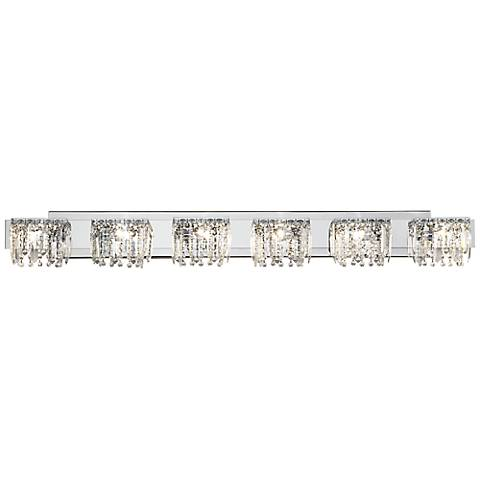 Possini Euro Design Hanging Crystal 50 3 4 Wide Bath Light Y1035 Lamps Plus