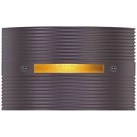 "Ridged Bronze 4 1/2"" Wide LED Outdoor Step Light"