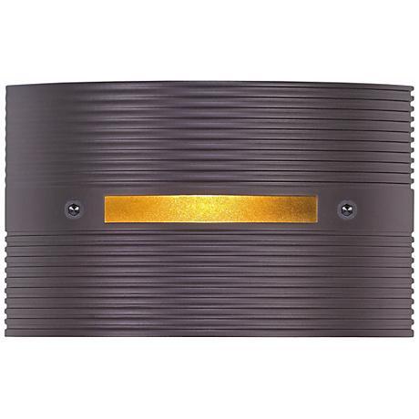 "Ridged Bronze 4 1/2"" Wide LED Outdoor Step Light"