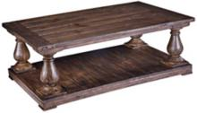 Densbury Collection Rectangular Natural Pine Cocktail Table