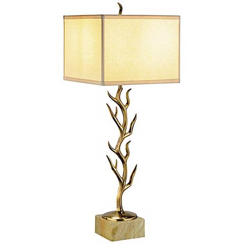 Currey and Company Algonquin Brass Branch Table Lamp