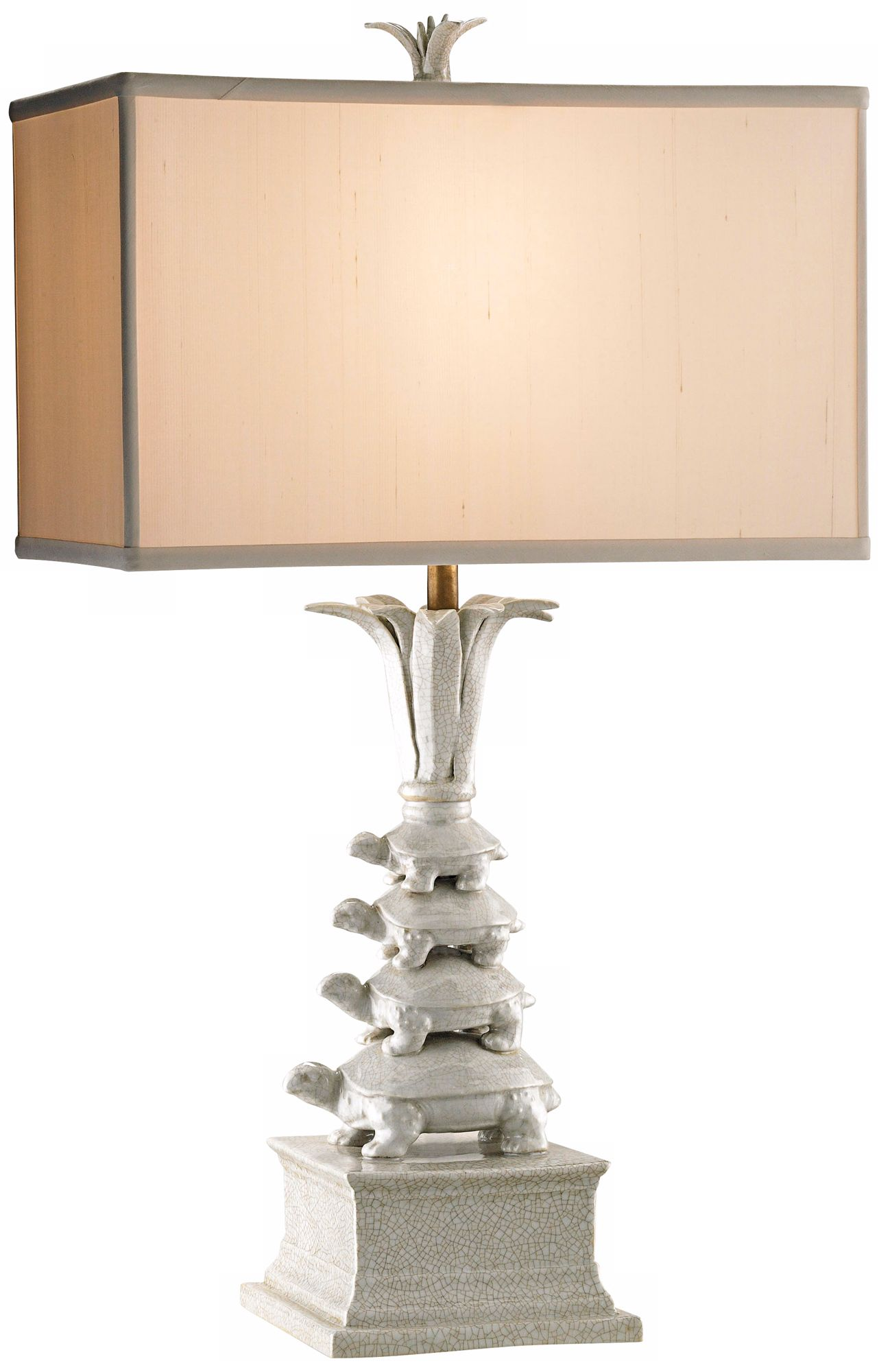 Currey And Company Whimsy Porcelain Turtle Table Lamp