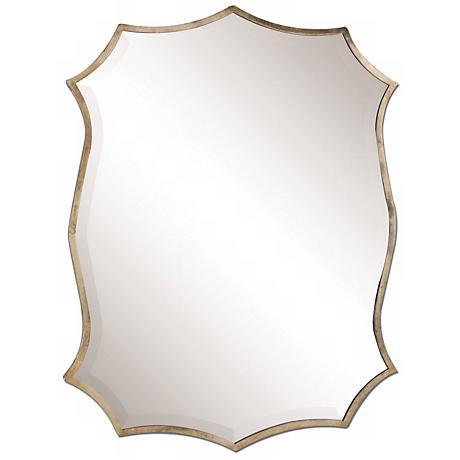 "Uttermost Migiana 30"" High Oxidized Nickel Wall Mirror"