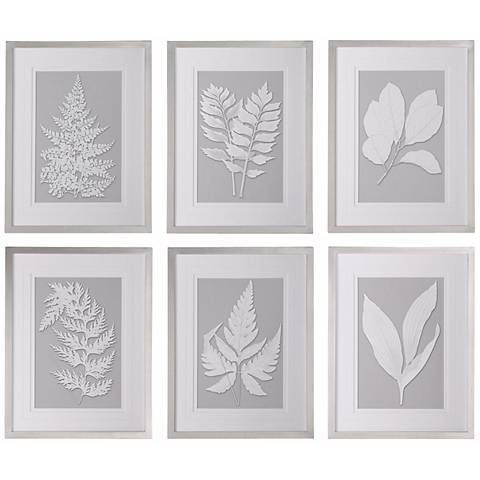 "Uttermost Set of 6 Moonlight Ferns 26""H Wall Art Prints"