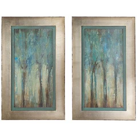 "Uttermost Set of 2 Whispering Wind 35"" Wall Art Prints"