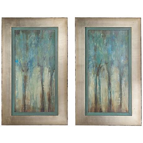 "Uttermost Set of 2 Whispering Wind 35"" Wall Art Prints"