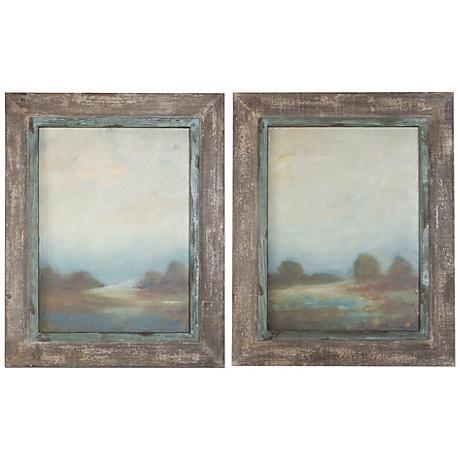 """Uttermost Set of 2 Morning Vistas 31""""H Wall Art Prints"""