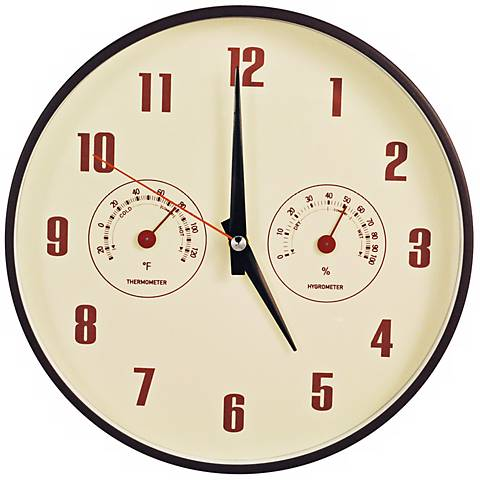 "Decomates Retro Multiplex 10 1/4"" Wide Silent Wall Clock"