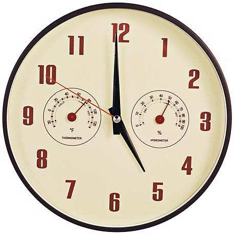"Decomates Retro Multiplex 10 1/4"" Wide Silent Wall Clock"