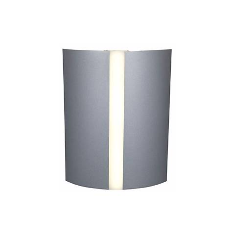 "Sail 10"" High Satin and White Acrylic 3-Light Wall Fixture"