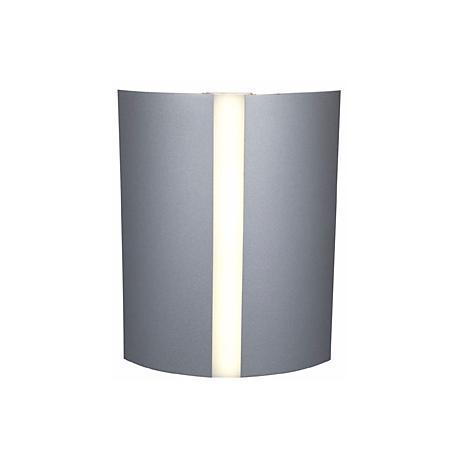 "Sail 10"" High Satin and White Acrylic 3-Light Wall Fixture"