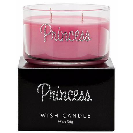 Pink Princess Hand-Jeweled Wish Candle