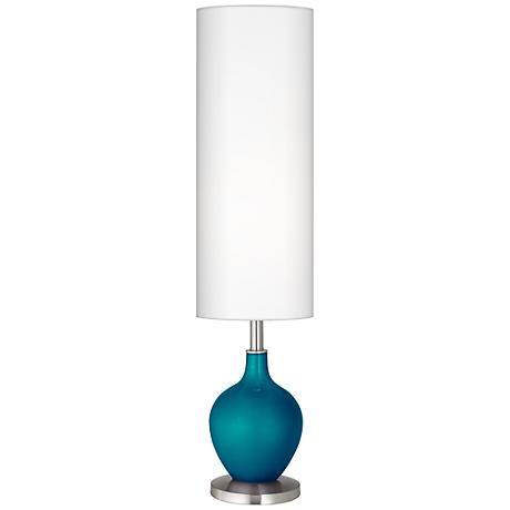 Turquoise Metallic Ovo Floor Lamp