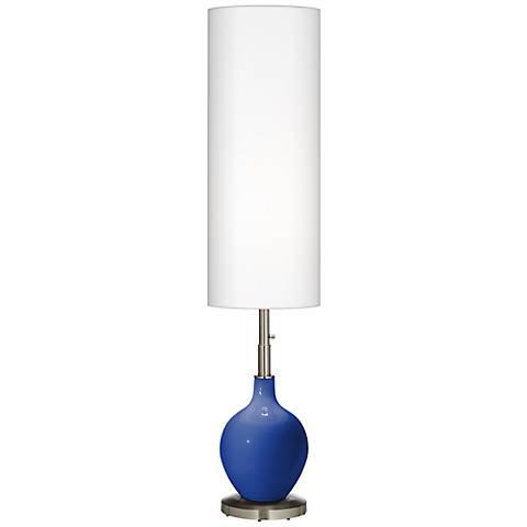 Dazzling Blue Ovo Floor Lamp