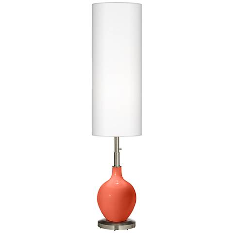 Daring Orange Ovo Floor Lamp