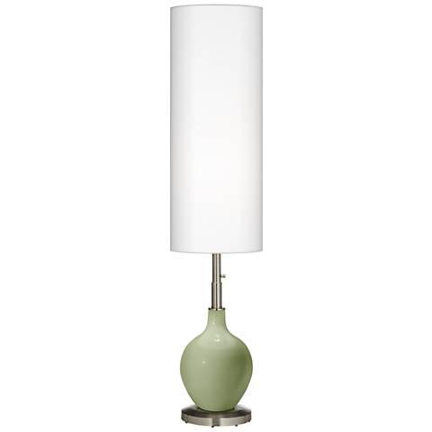 Majolica Green Ovo Floor Lamp
