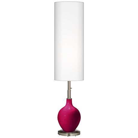French Burgundy Ovo Floor Lamp