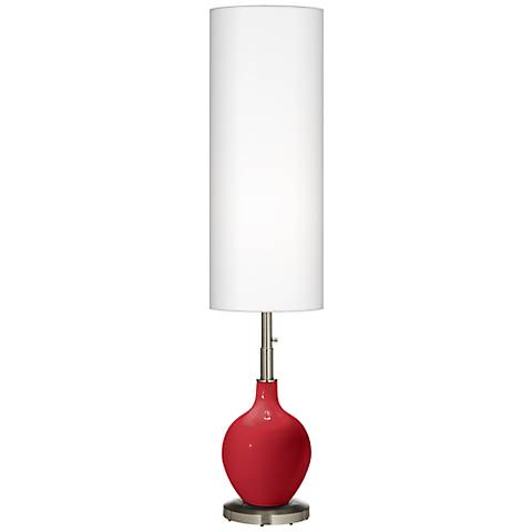 Ribbon Red Ovo Floor Lamp