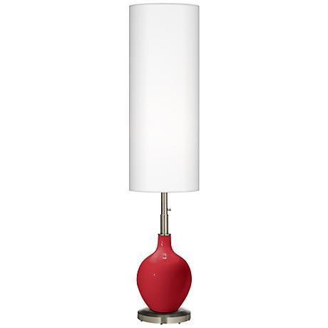 Ribbon Red Ovo Floor Lamp