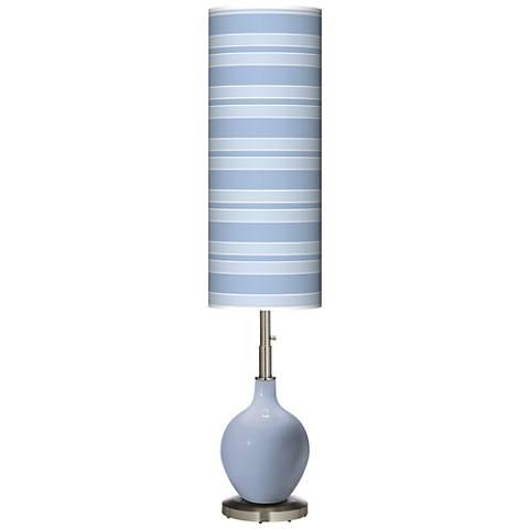 Blue Sky Bold Stripe Ovo Floor Lamp