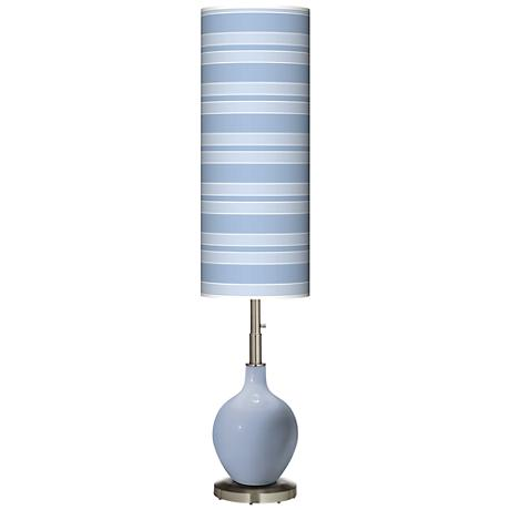 Blue Sky Bold Stripe Ovo Floor Lamp