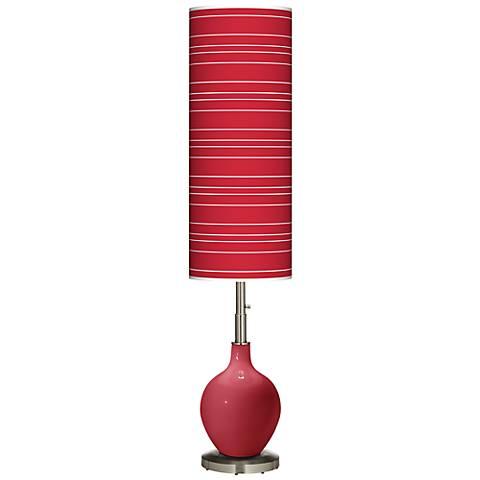 Samba Bold Stripe Ovo Floor Lamp