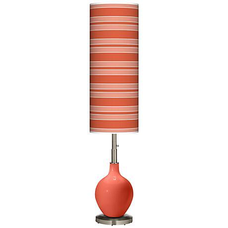 Koi Bold Stripe Ovo Floor Lamp