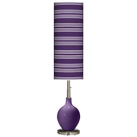Acai Bold Stripe Ovo Floor Lamp