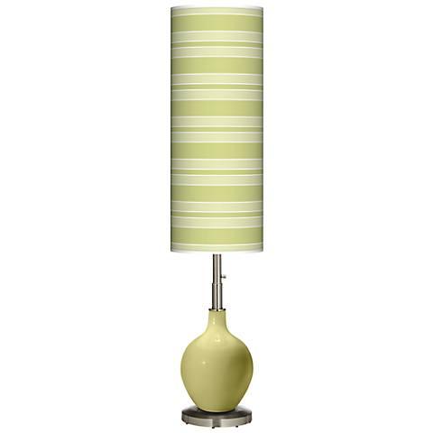 Linden Green Bold Stripe Ovo Floor Lamp