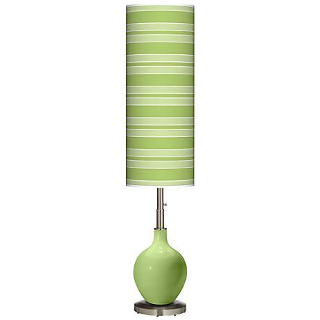 Lime Rickey Bold Stripe Ovo Floor Lamp