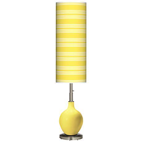 Lemon Twist Bold Stripe Ovo Floor Lamp