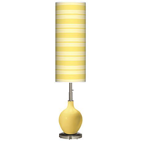Daffodil Bold Stripe Ovo Floor Lamp