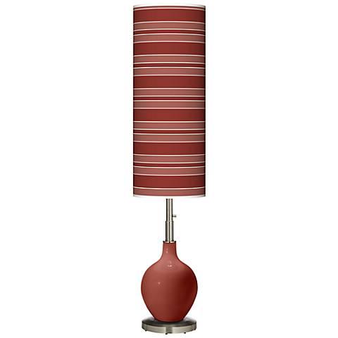 Madeira Bold Stripe Ovo Floor Lamp