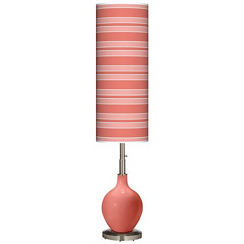 Coral Reef Bold Stripe Ovo Floor Lamp