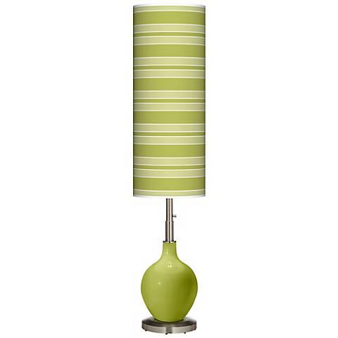 Parakeet Bold Stripe Ovo Floor Lamp
