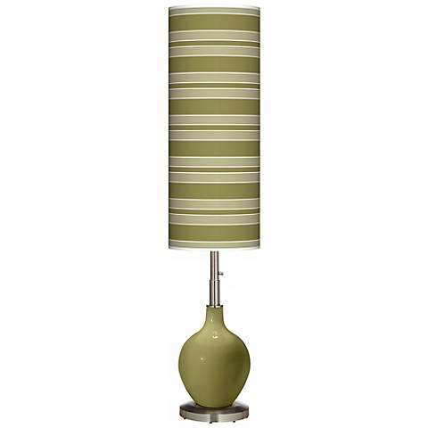 Rural Green Bold Stripe Ovo Floor Lamp