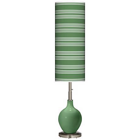 Garden Grove Bold Stripe Ovo Floor Lamp