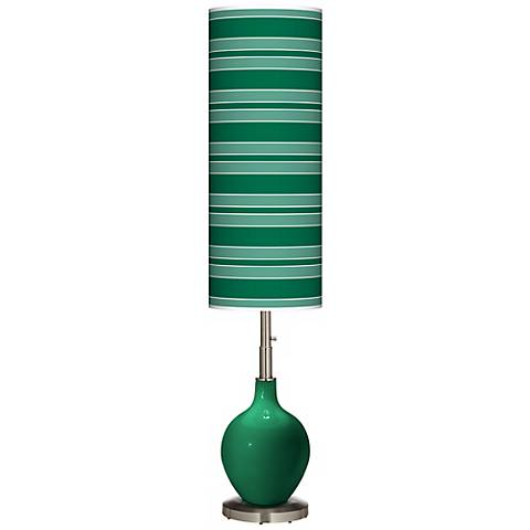 Greens Bold Stripe Ovo Floor Lamp