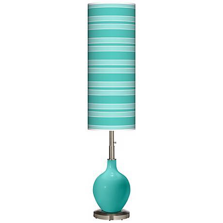 Synergy Bold Stripe Ovo Floor Lamp