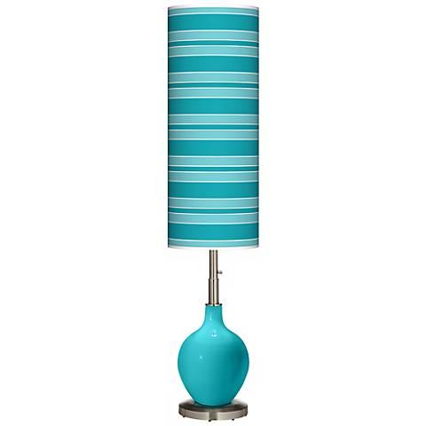 Surfer Blue Bold Stripe Ovo Floor Lamp
