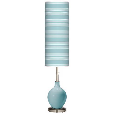 Raindrop Bold Stripe Ovo Floor Lamp