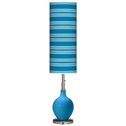 River Blue Bold Stripe Ovo Floor Lamp
