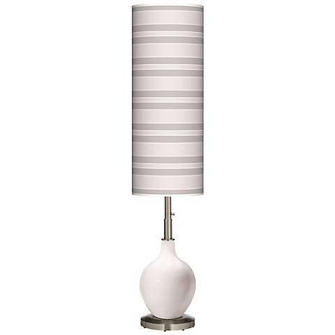 Smart White Bold Stripe Ovo Floor Lamp