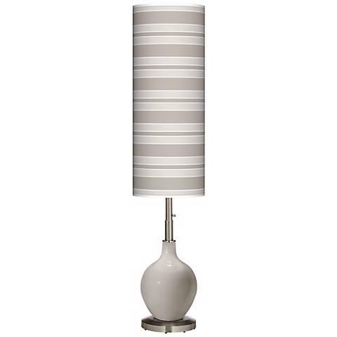 Requisite Gray Bold Stripe Ovo Floor Lamp
