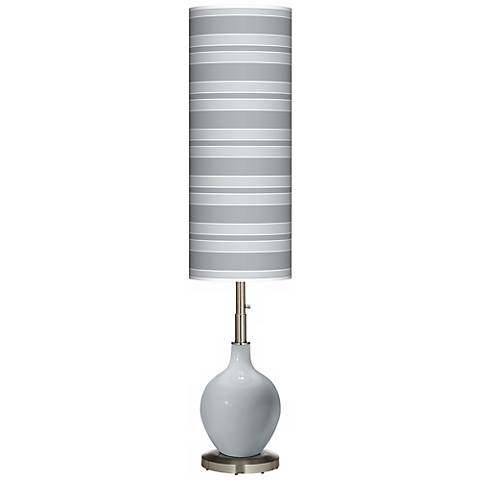 Uncertain Gray Bold Stripe Ovo Floor Lamp