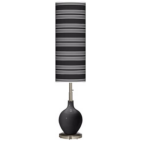 Tricorn Black Bold Stripe Ovo Floor Lamp