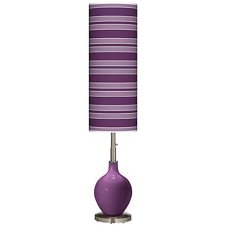 Kimono Violet Bold Stripe Ovo Floor Lamp