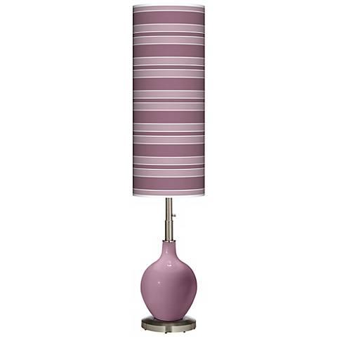 Plum Dandy Bold Stripe Ovo Floor Lamp