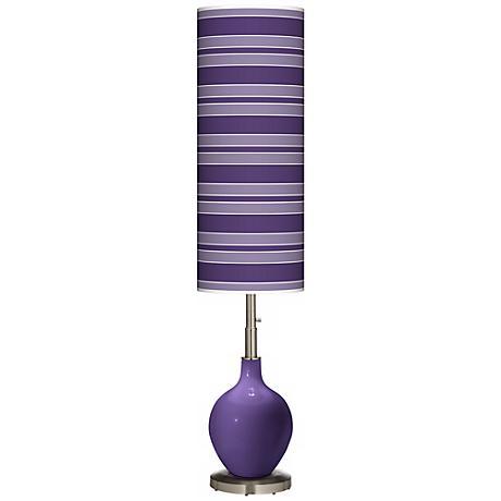 Izmir Purple Bold Stripe Ovo Floor Lamp